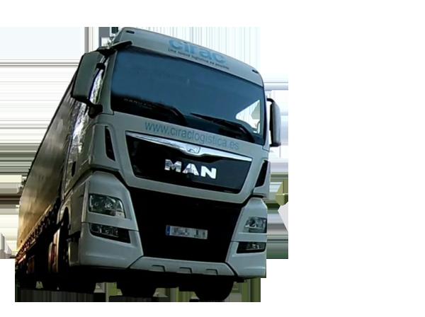 camion fondo transparente